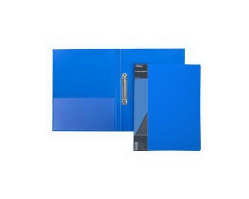 Папка 2 кольца Hatber 25мм STANDARD Синяя