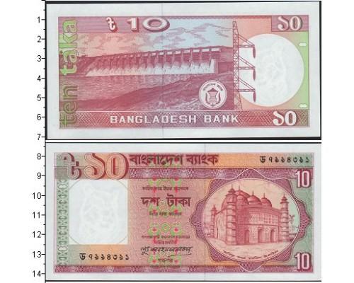 БЕЗ СКИДКИ Банкнота 10 така Бангладеш (90)