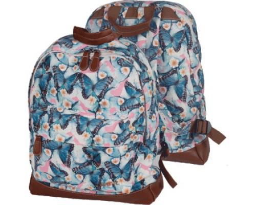 Рюкзак Butterfly водонепроницаемый текстиль для девочки, старшая школа