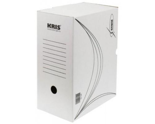 Короб архивный KRIS ширина 150 мм (260x150x325 мм) гофрокартон, белый