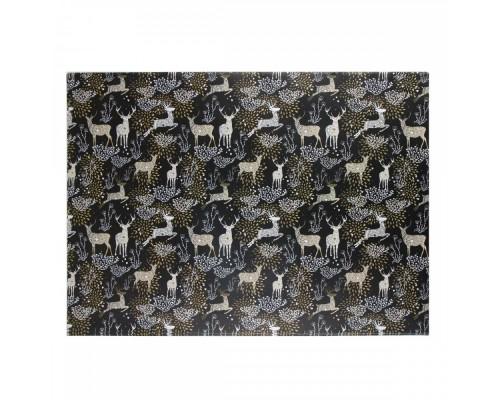 Бумага упаковочная 70*100 1 лист Golden deer КОКОС 209677