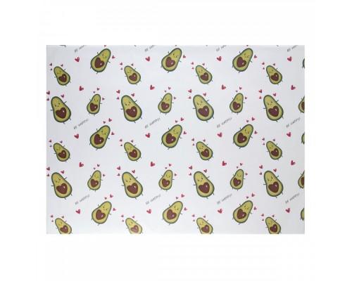 Бумага упаковочная 70*100 1 лист Avocado КОКОС 209664