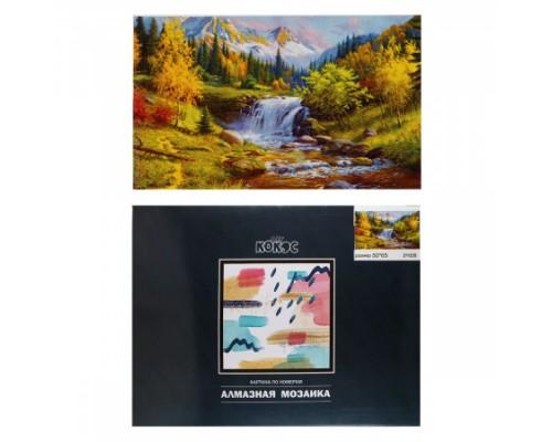 Алмазная мозаика 50*65см КОКОС Горный пейзаж полная выкладка холст на подрамнике 211235